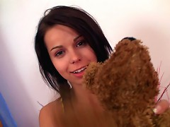 Sexy teen Kiki plays with her young rnholes and gets fucked