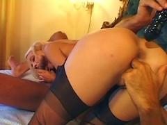 Blonde Teen in Lingerie Gets Fucked
