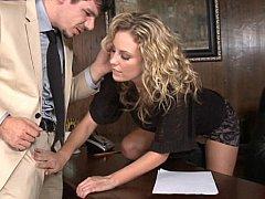 Kiara Diane  Combine business and pleasure by having sex at work