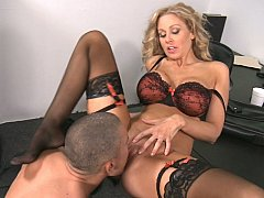 Julia Ann, Mick Blue  The whole office to themselves