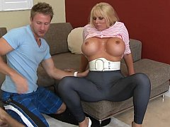 Karen Fisher  Blonde mom with huge round boobs
