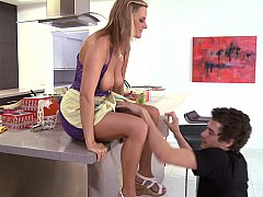 Becca Blossoms, Xander Corvus  I fucked my friend's mom on a kitchen table